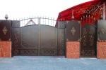 Кованые ворота+калитка. Рязанская область, Шацк