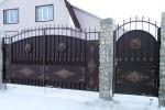 Кованые ворота+калитка. Московская область, г. Зарайск.