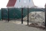 Забор кованый. Рязанская область, Английский Рожок