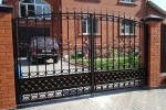 Кованые ворота. Рязанская область, п. Дивово, 8800 руб/м2