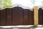 Кованые ворота+калитка. Рязанская область, п. Варские.