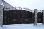Кованые ворота+калитка. Московская область, г. Зарайск, 16500 руб/м2