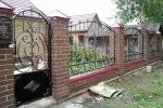Забор кованый+калитка. Рязанская область, Милославское