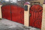 Кованые ворота+калитка. Рязанская область, п. Веселёво.