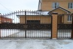 Ворота кованые. Рязанская область, (4,35х2,3+калитка)