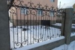 Кованый забор. Рязанская область, п. Аксёново, 9300 руб/м2