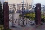 Кованые ворота. Московская область, п. Быково, 17000 руб/м2
