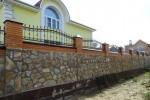 Кованый забор. п. Дядьково, 9500 руб/м2