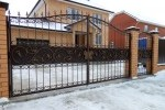 Кованые ворота+калитка. Рязанская область.
