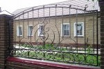 Кованый забор. Рязанская область, п. Милославское, 9200 руб/м2