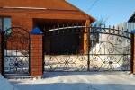 Кованые ворота+калитка. Рязанская область, п. Старожилово.