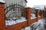 Кованый забор. Рязанская область, г. Рыбное, 9300 руб/м2