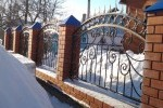 Кованый забор. Рязанская область, п. Старожилово, 9300 руб/м2