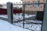 Кованые ворота. Рязанская область, п. Аксёново.